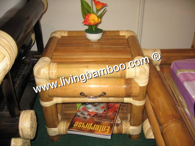 Bamboo Bed-SAI GON BAMBOO BED SIDE TABLE