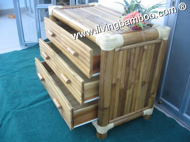 Bamboo Cabinet-CABINET 3 DRAWERS