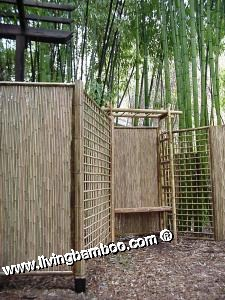Bamboo Pergola and Gate-BAMBOO FENCE WITH GATE