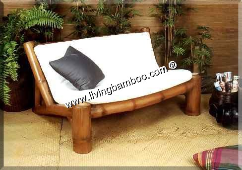 bamboo living room hamburg 2 seat sofa. Black Bedroom Furniture Sets. Home Design Ideas