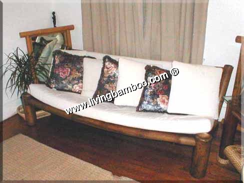 bamboo living room hamburg 3 seat sofa. Black Bedroom Furniture Sets. Home Design Ideas