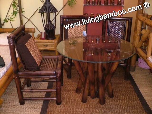 Bamboo Dining Room-TRE LANG DINING SET