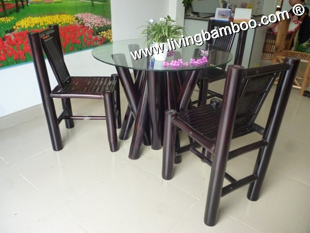 Bamboo Dining Room-WAIKIKI DINING SET BLACK
