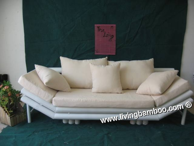 Bamboo Lounge-HEXAGON REIMS SOFA CREAM CUSHION