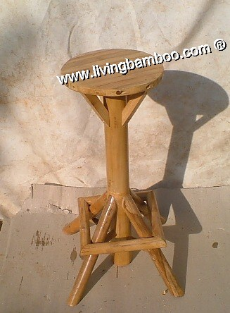 Bamboo Bar Chair and Stool, Bamboo Bar Chair & Stool-ROUND UMBRELLA BAR STOOL