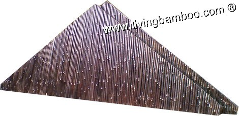 Bamboo Natural Meterial-SIDE WALL ROOF PANEL BY ROUND BAMBOO POLE