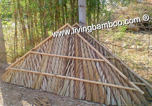 Bamboo Natural Meterial-SIDE ROOF PANEL BY COCONUT LEAVES