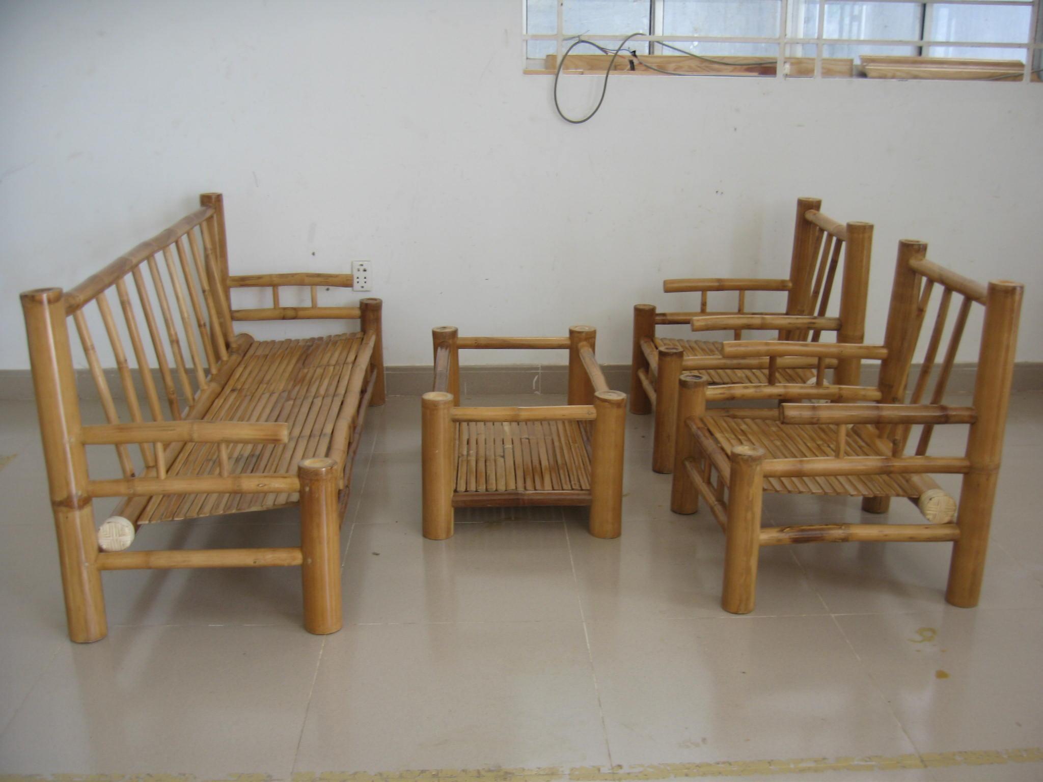 Bamboo Dining Table Set - Bamboo dining set napoli set