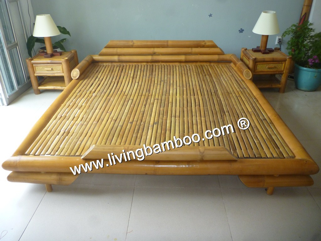 Bamboo Bed-SIENA BED WITHOUT RATTAN