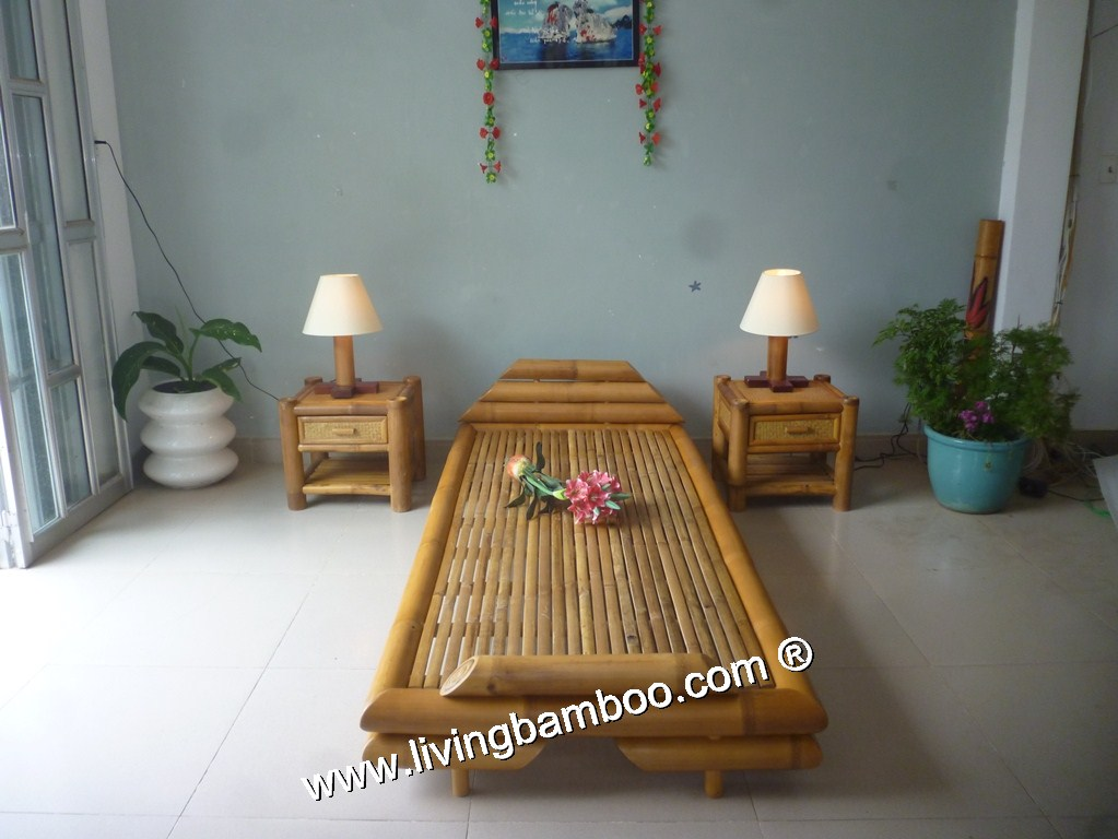 Bamboo Bed-SINGLE SIENA BED